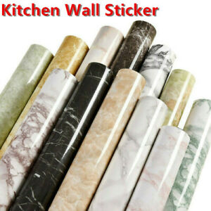 Kitchen Furniture Wrapping Film Self adhesive Marble Vinyl Film Wall Sticker