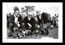 JACK NICKLAUS & ARNOLD PALMER & GARY PLAYER SIGNED & FRAMED PP POSTER PHOTO