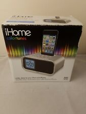 IHome Colortunes Universal Dock For Ipod Dual Alarm Programmable Snooze