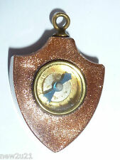 Victorian goldstone Shield Compass watch Fob Charm miniature