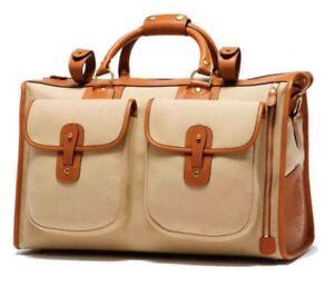 Ghurka Express No. 2 Khaki Twill & Leather Bag
