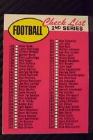 1969 Topps #132 2nd Series CHECKLIST UNMARKED - NICE Variation NO BORDERS (A)