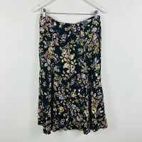 Eastcoast Womens Vintage Skirt Size 8 Floral Multicolour Rayon Made In Australia