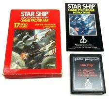 Star Ship (Atari 2600, 1977) By Atari (Box, Cartridge & Manual) NTSC