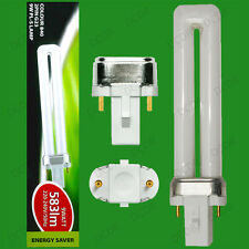 4x 9W G23, 2 pin, Low Energy CFL PL Light Bulbs, 840, 4000K Cool White Lamps