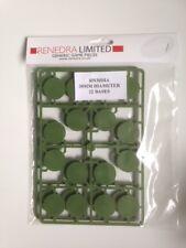 Renedra 30mm Diameter Bases Green - 32 bases # RN30DIA