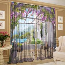 2er Set Gardinen transparent Foto Vorhänge 3D - Krim, Chiffon, 145 х 270 cm