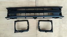 FIT FOR TOYOTA PICKUP HILUX 1989-91 2WD MATT BLACK GRILLE LIGHT CASE W/CLIPS