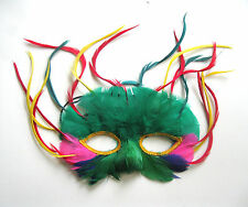 Elegant Feathered Mask Sexy Bird Mardi Gras Carnival Adult Costume Accessory
