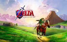 LEGEND OF ZELDA OCARINA OF TIME 22x28 Original Nintendo Poster ROLLED & RARE
