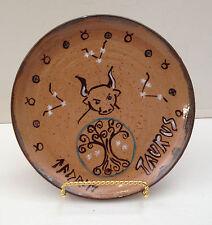 TAURUS Astrology plate stoneware NC potter Helen Seebold