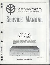 Original Factory Kenwood KR-710/710L Stereo Receiver Service/Reparaturanleitung