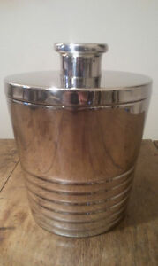 Define Stainless Steel Ice Ribbed 50's Style Ice Bucket