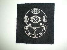 US NAVY DIVER 2ND CLASS RATING BADGE - BLACK ON WOOL