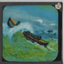Royal National Lifeboat Institution Sea Rescue 9 Glass Magic Lantern Slides