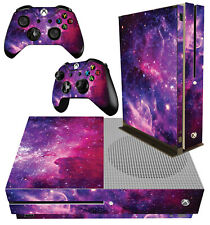 XBOX ONE S SLIM Console Sticker Galaxy Vibrant Space Stars Universe & 2 PAD SKIN