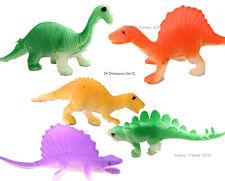 24 Dinosaur Toys Figurines Jurassic Bulk Party Bags Dinosaurs Animals Play Set