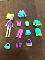 Polly Pocket Doll With Clothes & Accessories Multiple Outfits #17