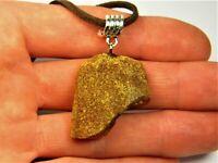 Old unpolished Baltic Amber pendant necklace genuine men's women's unisex 2431