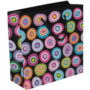 Sac cadeau 19cm x 19cm x 7,5cm - multicolore - papier 158gsm - neuf