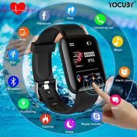 Bluetooth Smart Watch Heart Rate Oxygen Blood Pressure Sport Fitness Tracker