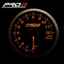 Pro G Race Series RS Gauge - Exhaust gas temperature EGT °C 60mm smoke amber red