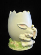 Vintage Cracked Egg Easter Bunny Rabbit Flower Planter Napcoware Japan
