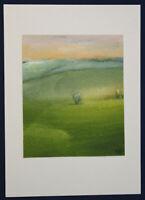 """Gouache von Ursula Bankroth """"Landschaft in Tusche"""" um 1990 Malerei Kunst sf"""