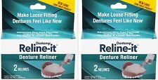 Dentemp DOC Denture RELINER RELINE IT - 2 repairs / box  ( 2 boxes ) NEW LOOK!