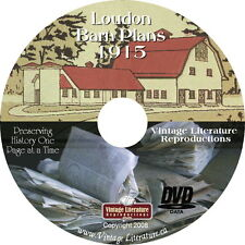 74 Vintage Louden Barn Plans { 1915 Catalog } on DVD