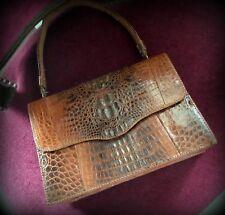 Ancien sac à main croco Vintage-Sac vintage cuir croco années 50-Vintage bag50