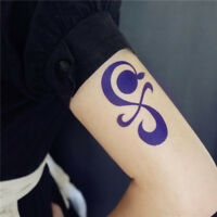 Anime One Piece Nami Cosplay Tattoo Sticker Tangerine Pinwheel Blue Cross Tattoo