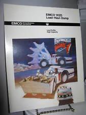 Eimco 912D Load-Haul-Dump Mining - 4 Page Sales Ad Brochure - VG
