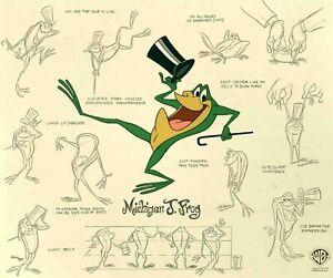 Michigan J. Frog Model Sheet Limited Edition Hand-Painted Cel FRAMED