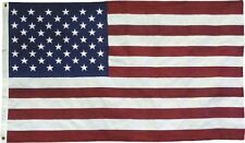 3x5 USA American 50 Stars Embroidered Sewn Cotton Flag USA Hand Made 2 Grommets