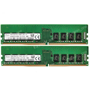 For Hynix 32GB 2X16GB 2RX8 DDR4-2400T-E 288P ECC Unbuffered EDIMM Server Memory