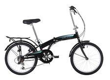 "Classic Motion IV 6 Speed 20"" Wheel Black Folding Bike RRP £210.00"
