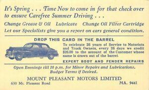 Automobile Repair Advertising Mount Pleasant Massachusetts  21-1983