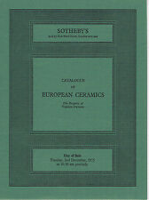 Sotheby's - European Ceramics - Worcester, Derby, Delft, Meissen