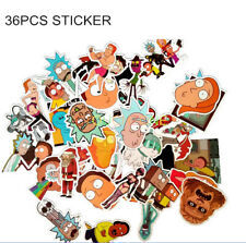 36Pcs Rick and Morty Drama Stickers Decal DIY For Snowboard Laptop Luggage