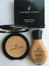 Vincent Longo LOT OF 2 Dew Finish Foundation & Pressed Powder in Golden Oriental
