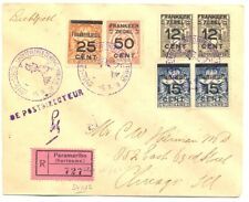 SURINAME 1929-25-9 --REG FF COVER ---TO USA -F/ VF