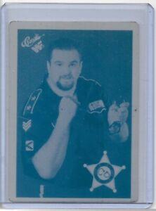 1/1 BIG BOSS MAN 1990 CLASSIC CARDS PRINTING PRESS PLATE WRESTLING WRESTLEMANIA