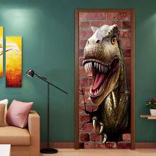DIY Dinosaur Pattern Self Adhesive 3d Door Sticker Wall Stickers Decal Mural
