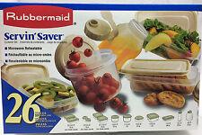 Rubbermaid Servin' Saver Vintage 1996 26 Pieces Container Set JBX-7C55-C0 ALMOND