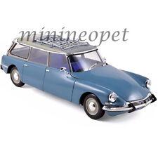 NOREV 181591 1967 CITROEN ID 19 BREAK WAGON 1/18 DIECAST MODEL MONTE CARLO BLUE