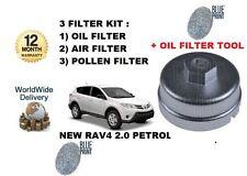 PER TOYOTA RAV4 Valvematic 2.0 3ZR-FAE 2013- > FILTRO OLIO ARIA POLLINE KIT +