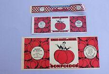 3 ancienne etiquette boite conserve tomate Sonpoidor 3 tailles