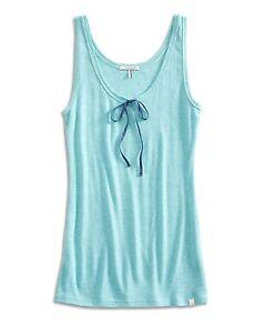 Lucky Brand - Women's M - NWT$28 - Blue Ribbed Knit Cotton Blend Ribbon Tank Top