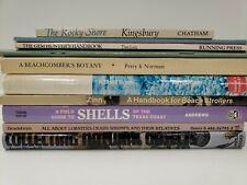 Lot of 10 Beach Books/Guides - Shells, Gems, Stones, Crabs, Nature - HC/PB